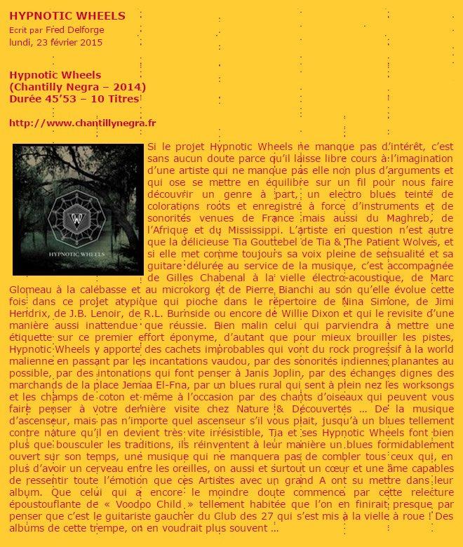 Hypnotic Wheels - Zicazine Fevrier 2015