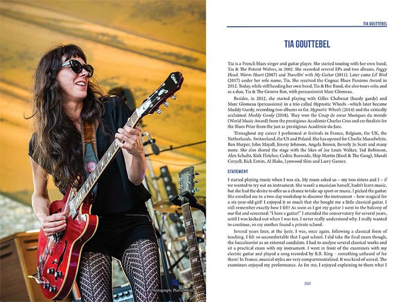 Tia parmi le gotha international des Blues women